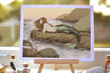 Load image into Gallery viewer, The Mermaid's Rock - Giclee drawing art print