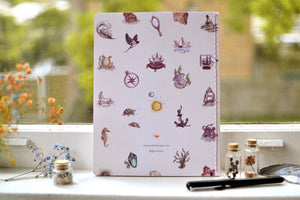 Large lined mermaid notebook