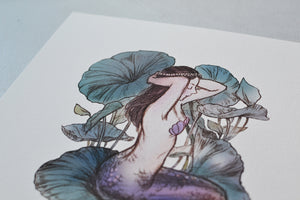 Lily Mermaid - A4 art print