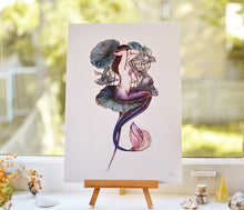 Load image into Gallery viewer, Lily Mermaid - A4 art print