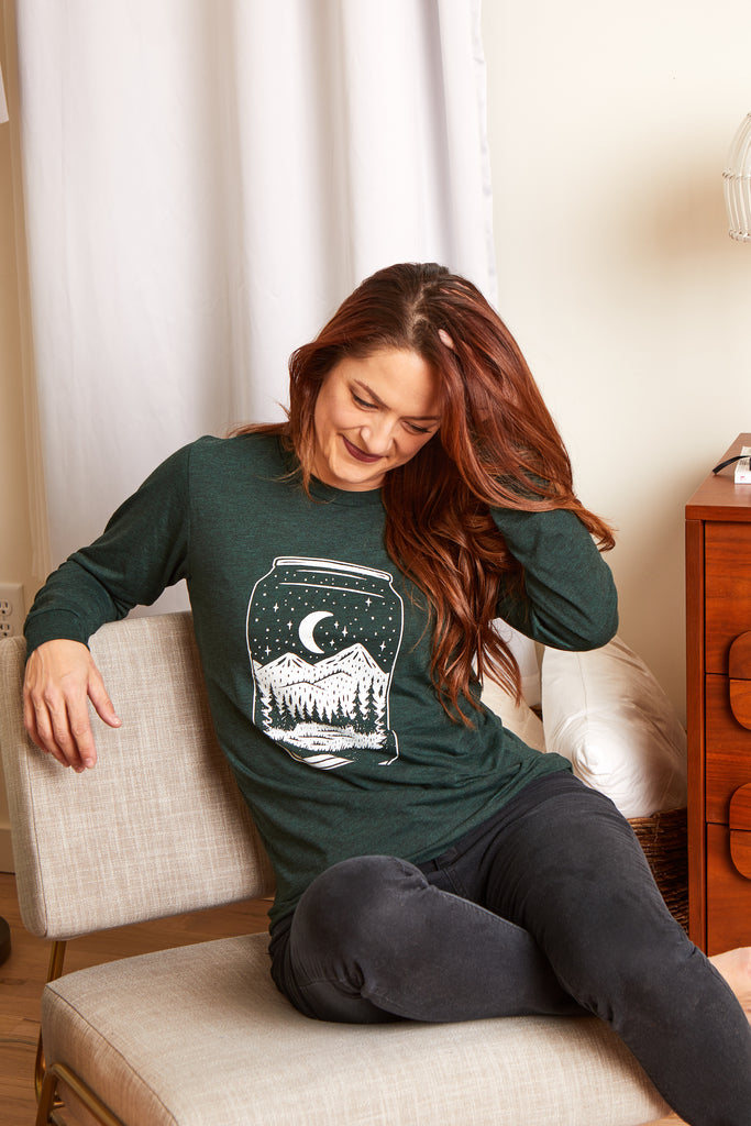 Can Long Sleeve Tee-Emerald