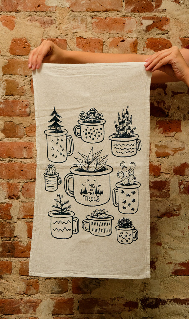 Planter Tea Towel