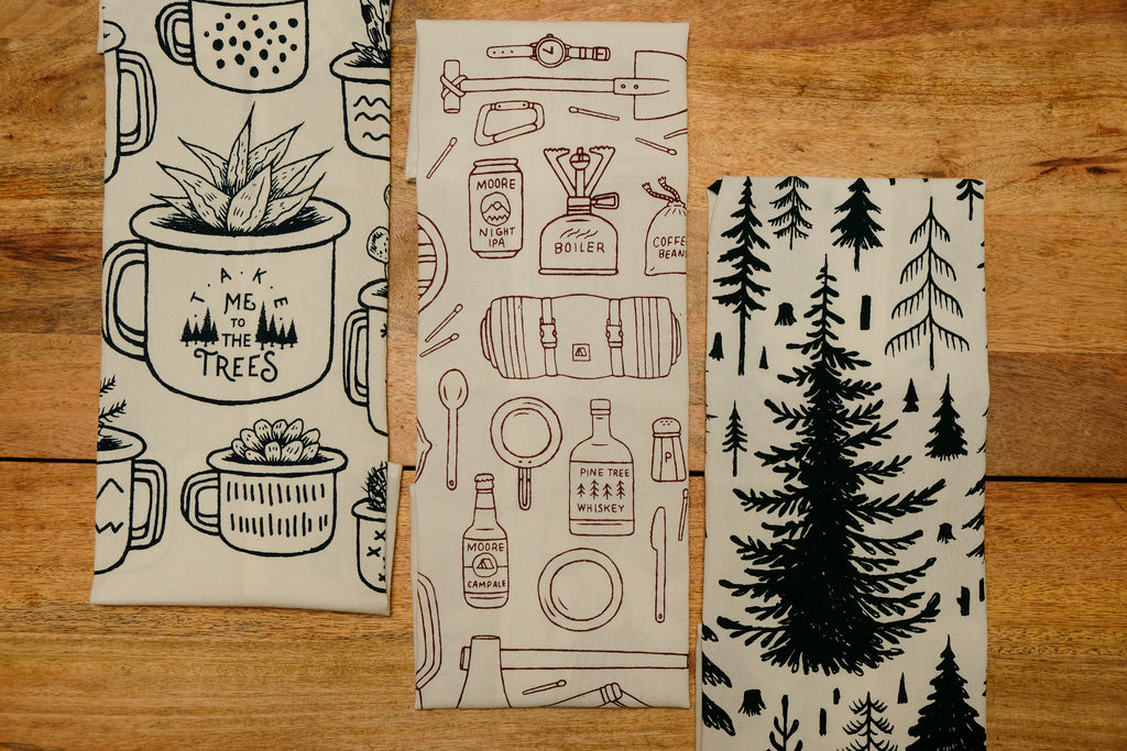 Camp Gear Tea Towel