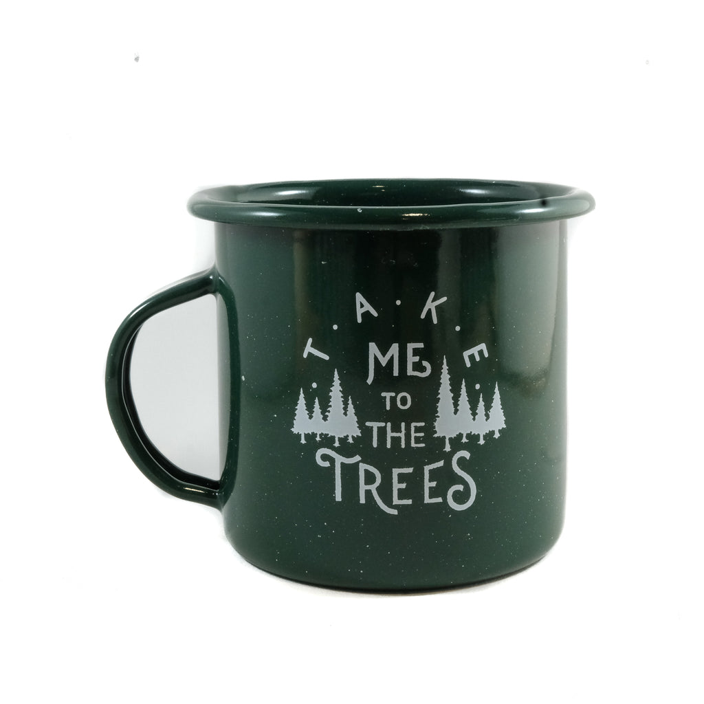 The Trees Enamel Cup