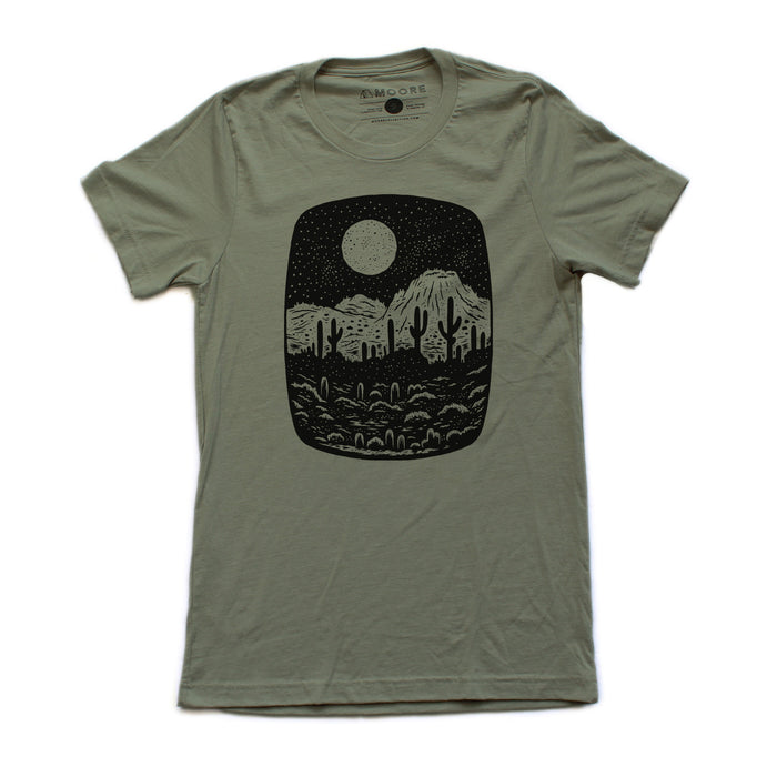 Night Butte Tee-Olive