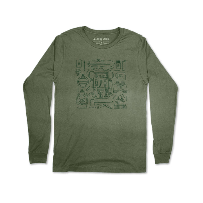 Forestry Gear Long Sleeve Tee-Military