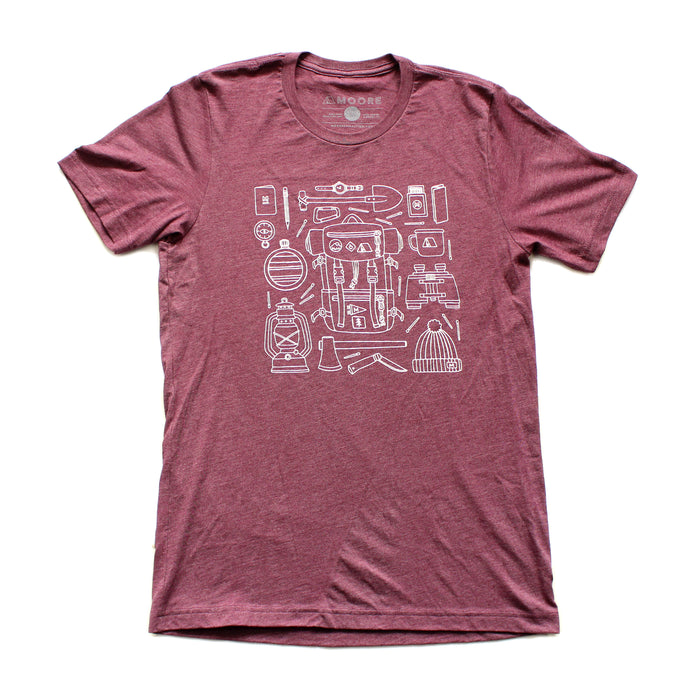 Forestry Gear Tee-Heather Plum