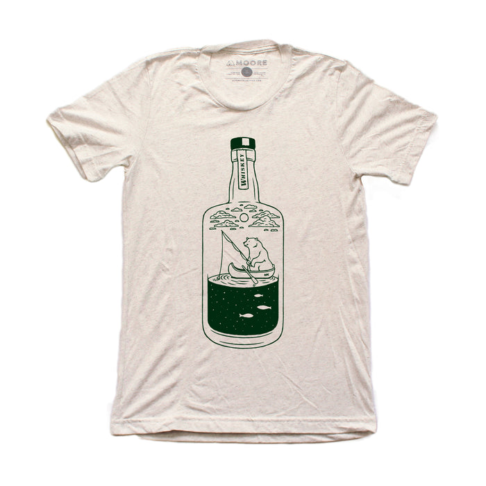 Moore x Mountain Khaki Whiskey Bear Tee-Oatmeal