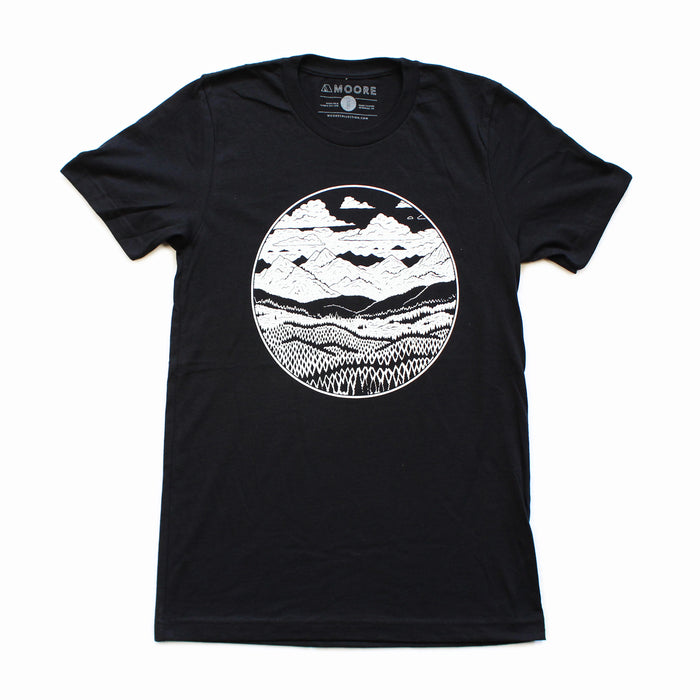 Mountain Range Tee-Black