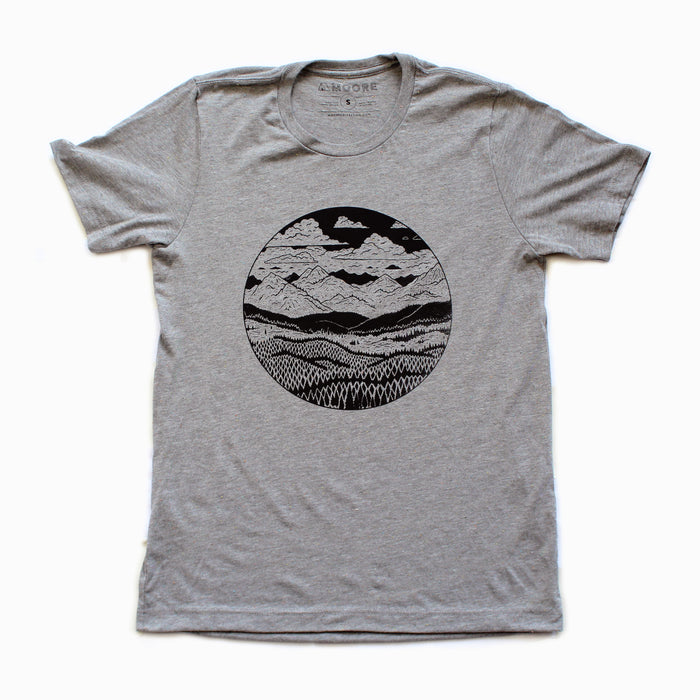 Mountain Range Tee-Gray Speckled