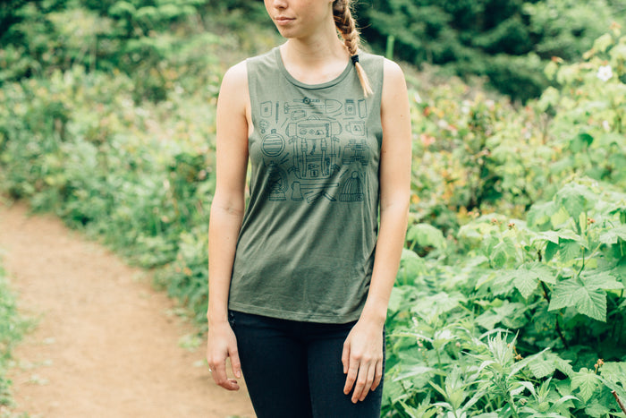 Ladies Forestry Gear Muscle Tank