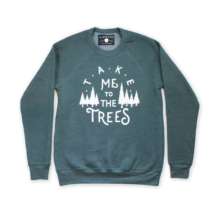Trees Crewneck-Forest