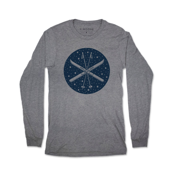 Ski Long Sleeve Tee-Gray Triblend