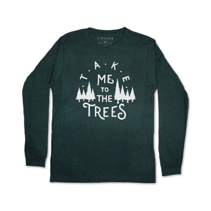 The Trees Long Sleeve Tee-Emerald Triblend