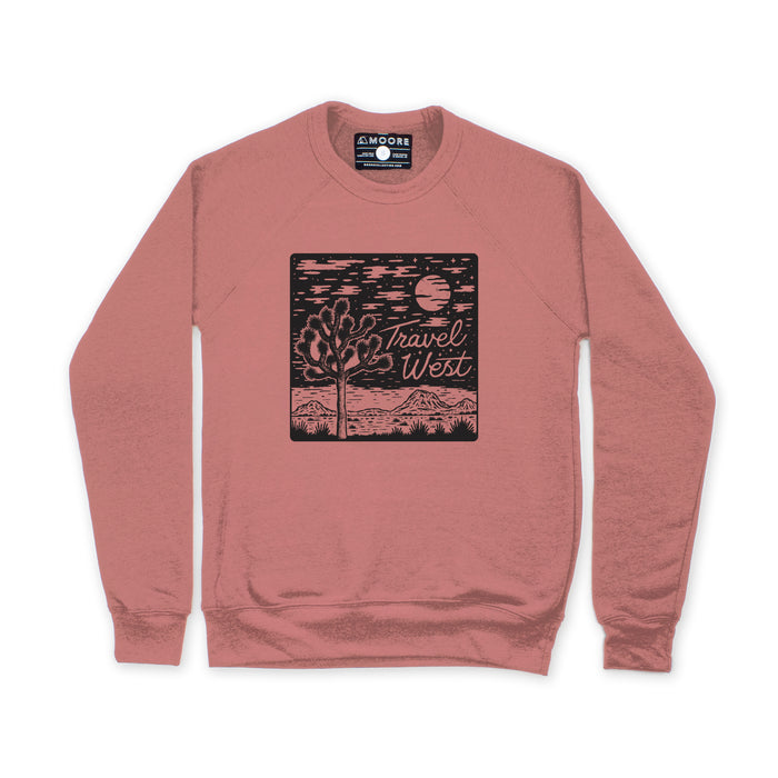 Travel West Crewneck-Mauve