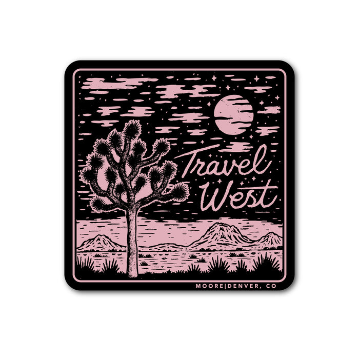 Travel West Sticker