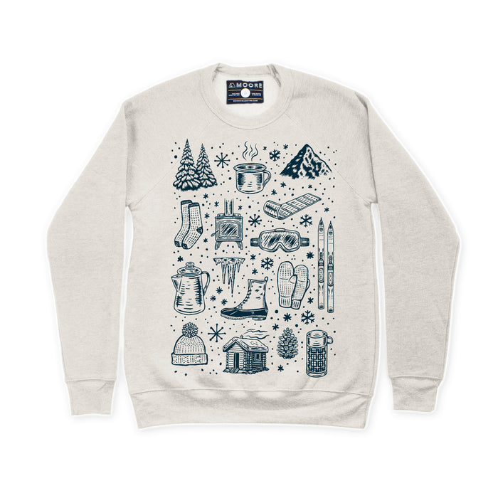 Winter Time Crewneck-Cement