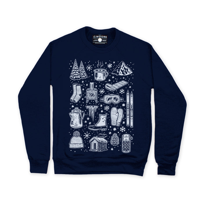 Winter Time Crewneck-Navy