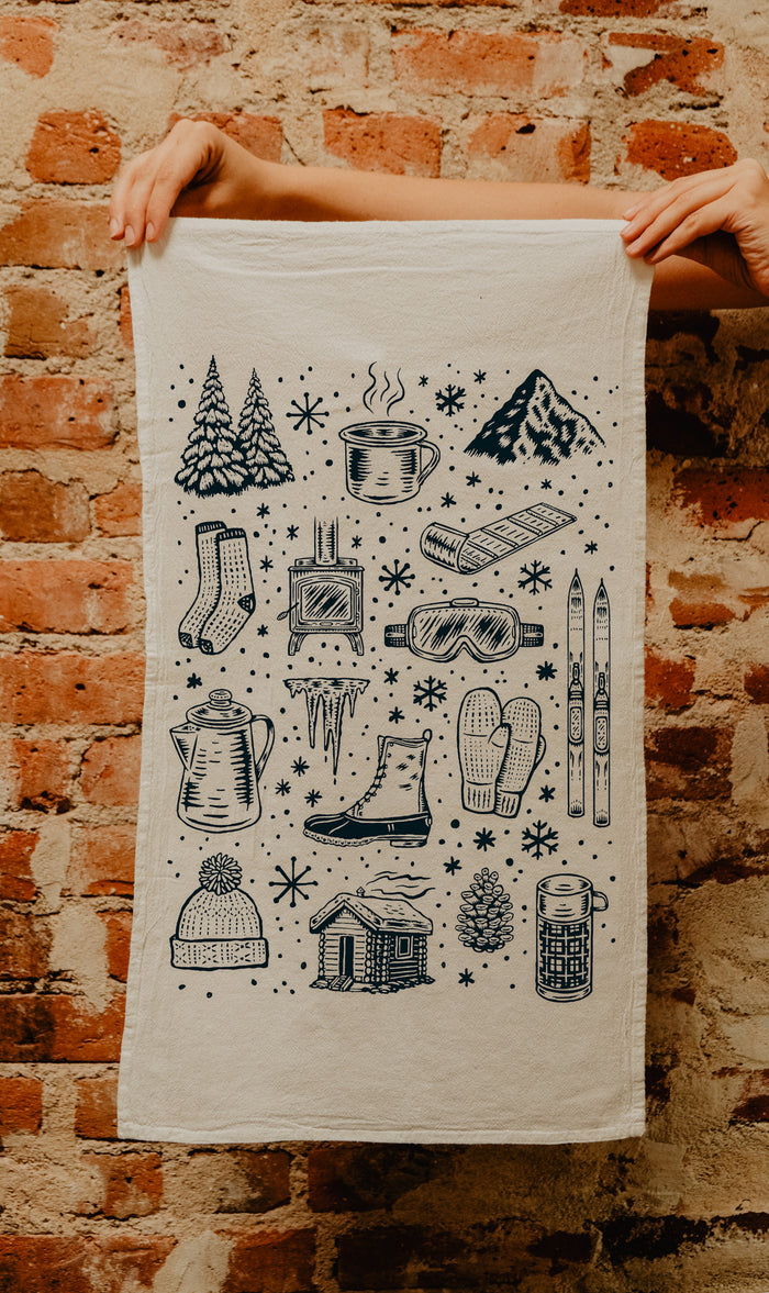 Winter Time Tea Towel