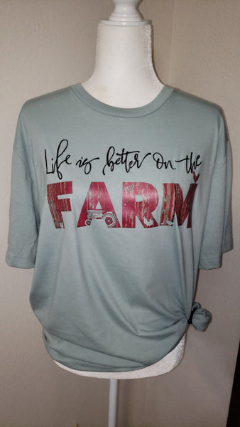 Life is better on the farm screen print transfer RTS