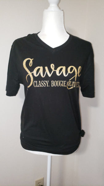 Savage classy bougie ratchet screen print transfer RTS