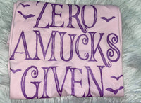 Zero amucks giving metallic purple screen print transfer