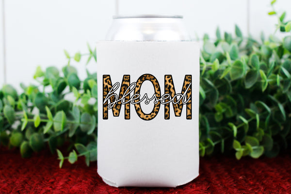 Blessed mom KOOZIE HIGH HEAT screen print transfer