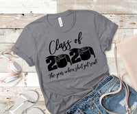 Copy of Class of 2020 black writing screen print transfers