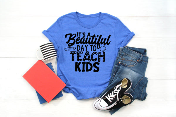It's a beautiful day to teach kids screen print transfer