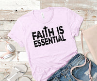 Faith is essential black screen print transfer