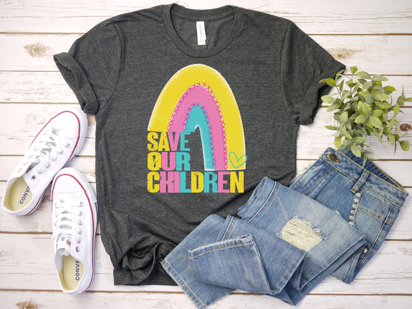 Save OUR Children HIGH HEAT screen print transfer