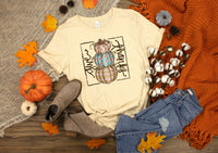 Give thanks stacked pumpkins HIGH HEAT screen print transfers