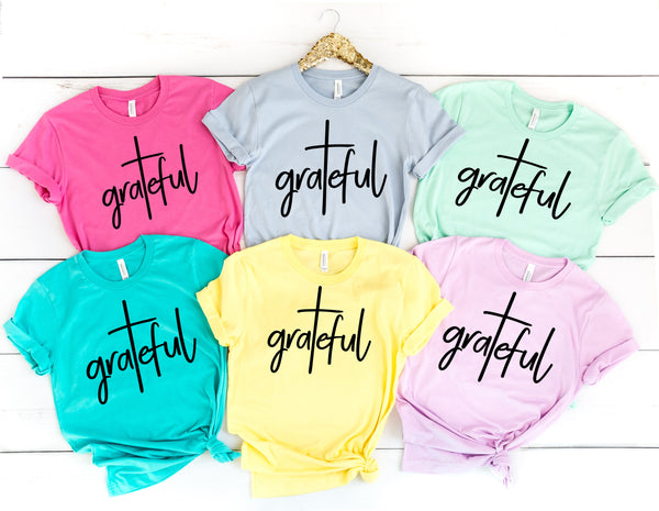 Grateful screen print transfer