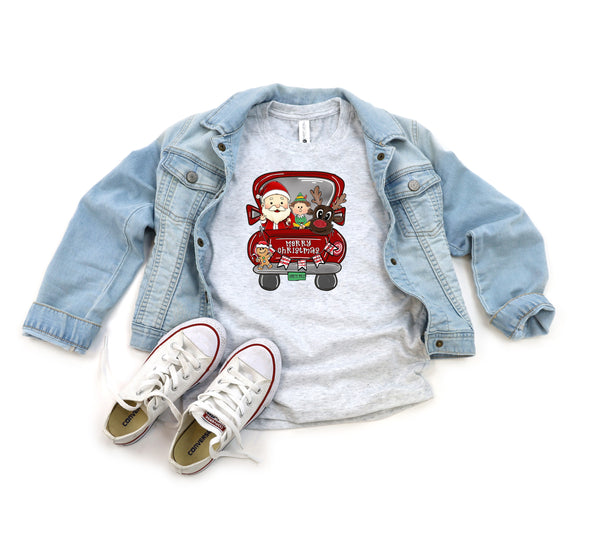 Christmas truck (santa,elf, reindeer) YOUTH HIGH HEAT