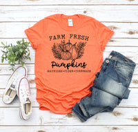 Farm fresh pumpkins screen print transfers