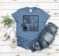 Trust in the lord with all your heart screen print transfer