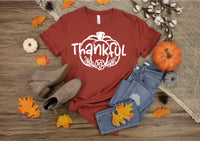 Thankful screen print transfer