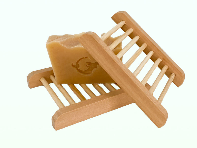 Natural Bamboo Soap Tray - Mermaid Cove Co.