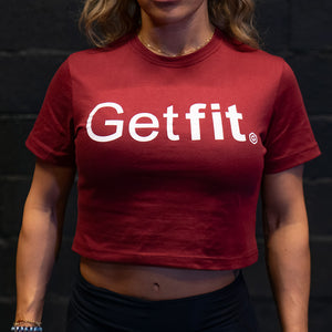 Nylansering! Getfit Crop Top - Women burgundy