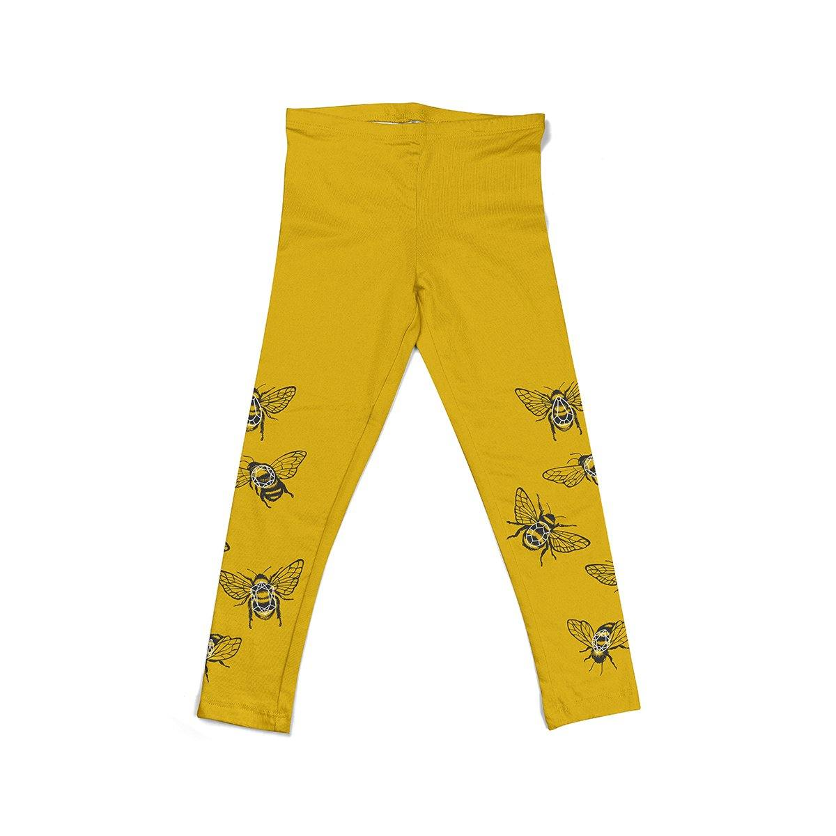 Yellow KIDS leggings Crystal bees - ZIB*