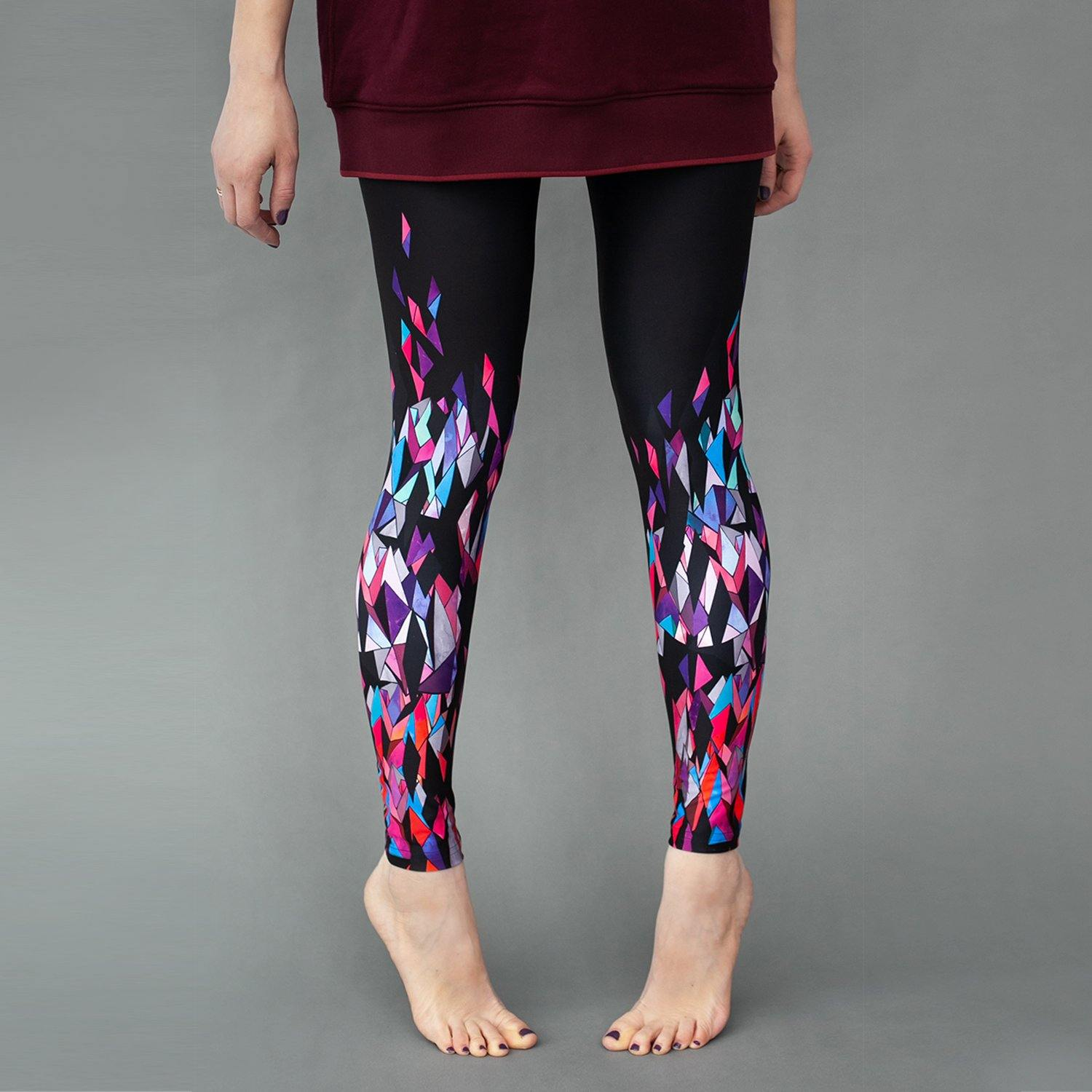 Printed leggings for women Crystals - ZIB*