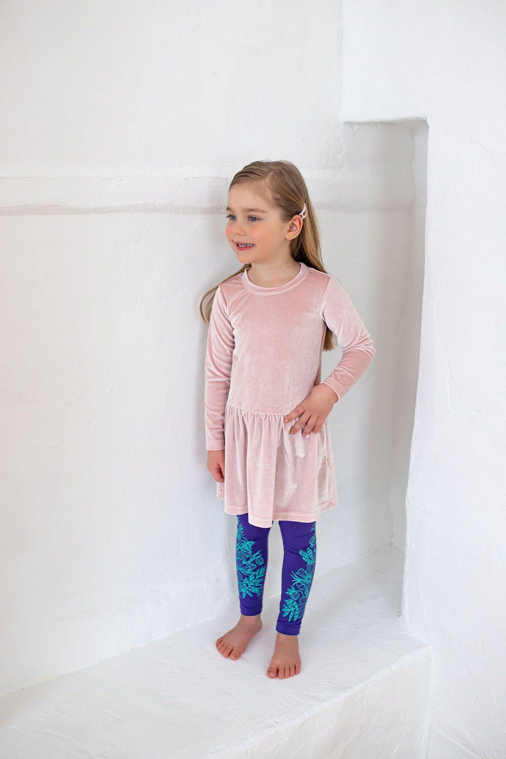 Violet KIDS leggings Flowers - ZIB*