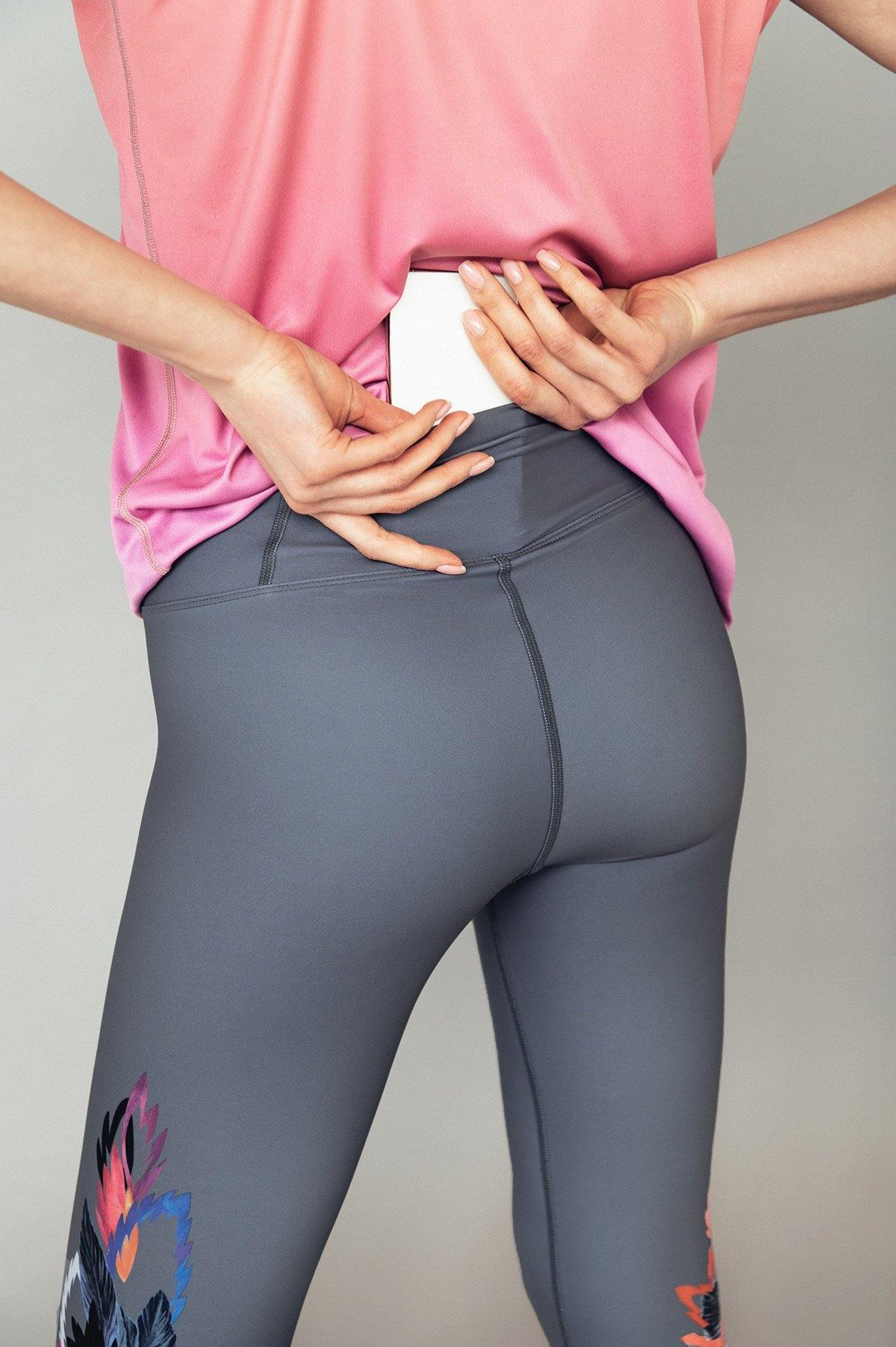 High-rise waistband yoga leggings Dream big - ZIB*