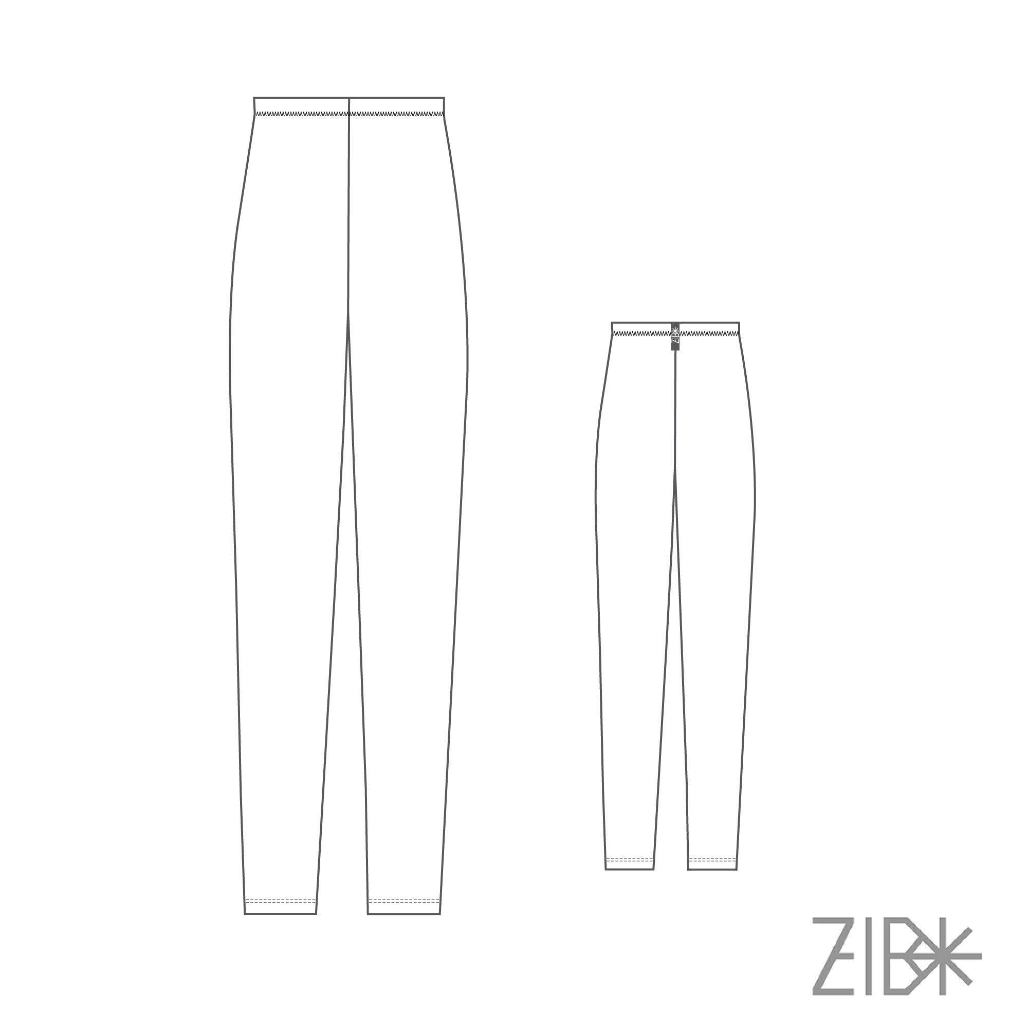 Navy basic leggings for women - ZIB*