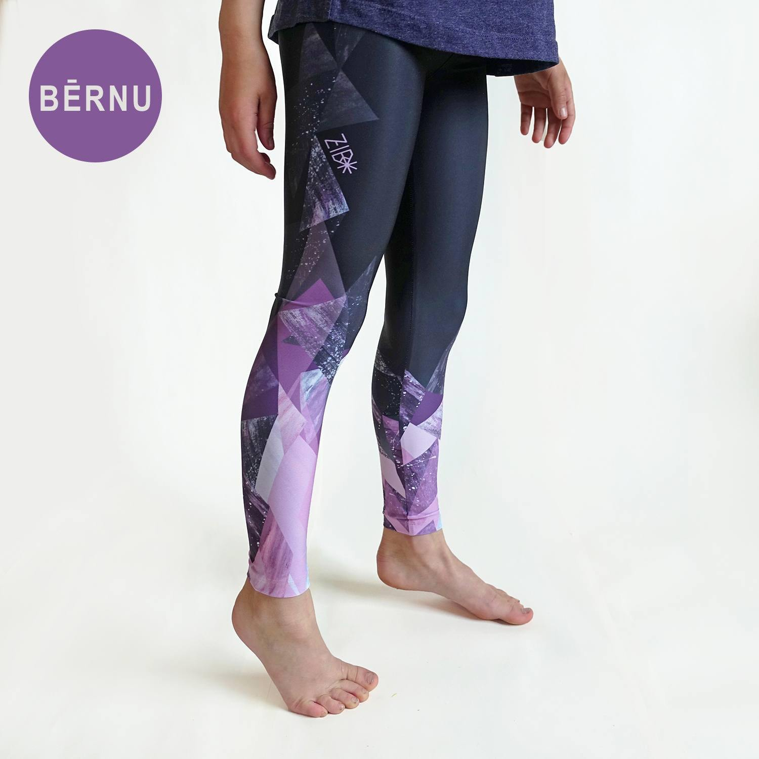 Printed leggings for girls Over the mountains - ZIB*