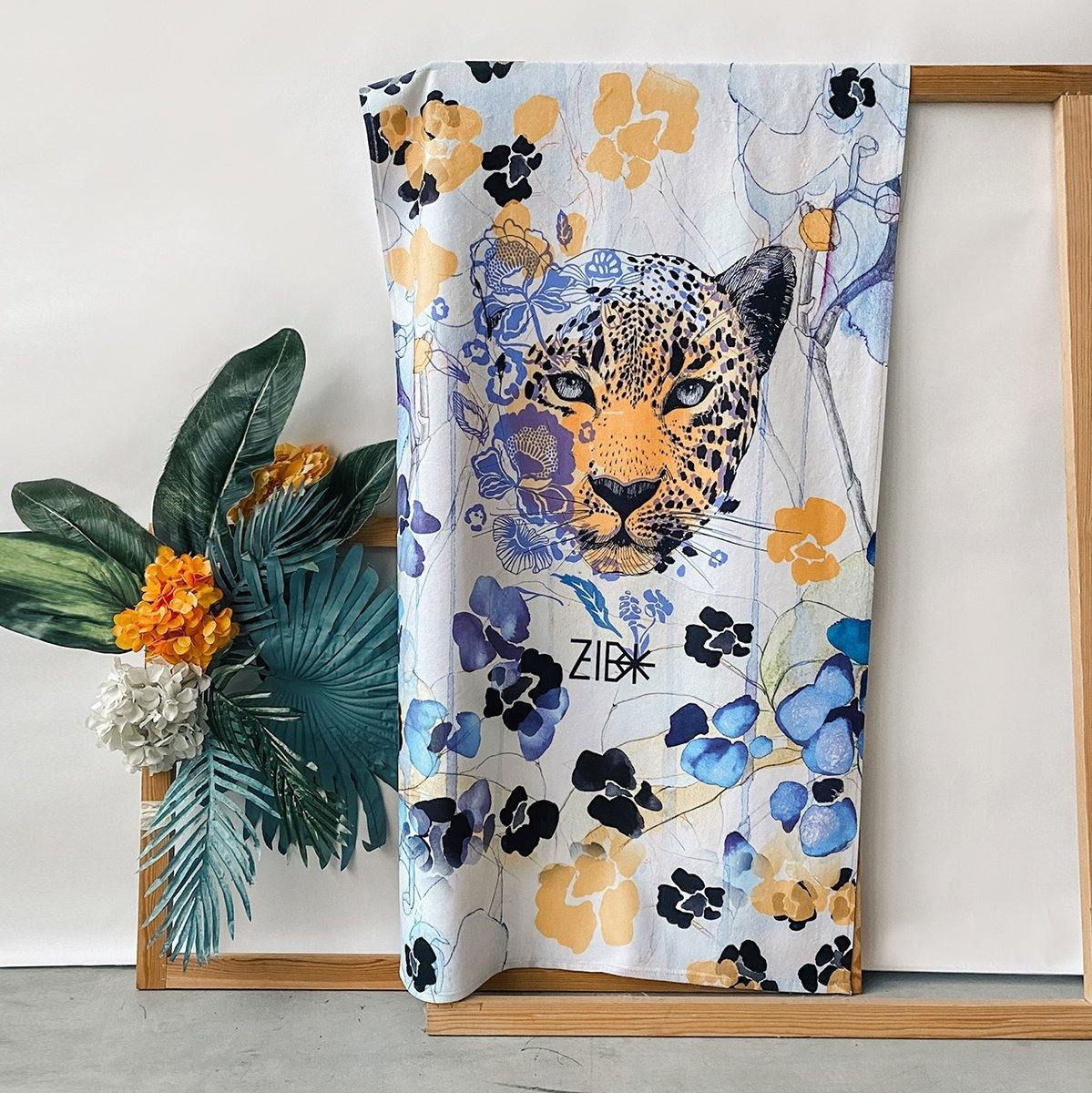 Beach towel Eyes of Leopard - ZIB*