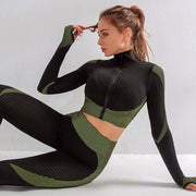 Jacket gym elite perform set green