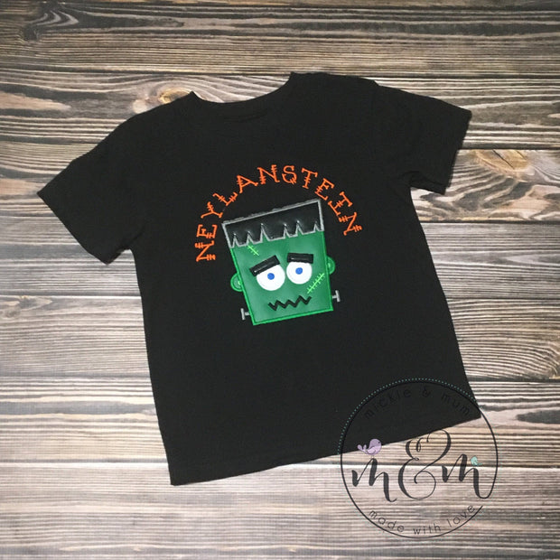 Frankenstein Halloween Shirt | Custom Halloween Shirt | Shirt for Boys | Spooky Halloween Shirt | Fun Halloween Shirt - Mickie and Mum Personalized Baby Outfits