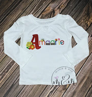 Girly Flower Shirt | Custom Spring Flower Shirt | Personalized Spring Shirt | Custom Flower Shirt - Mickie and Mum Personalized Baby Outfits