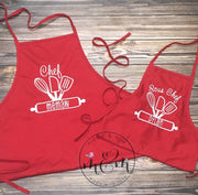 Matching Aprons - Kitchen Apron - Mickie and Mum Personalized Baby Outfits